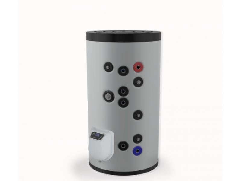 Бойлер Eldom 150 л. 3kW, стоящ, две серпентини, електронно управление, емайлиран FV15062S2E