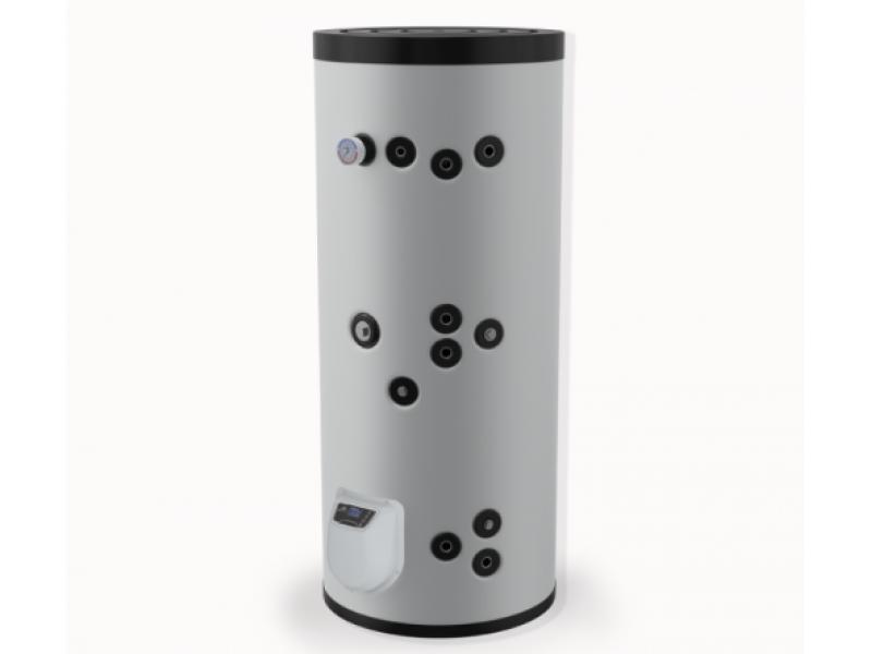 Бойлер Eldom 300 л. 9kW, стоящ, две серпентини, електронно управление, емайлиран FV30067S2E
