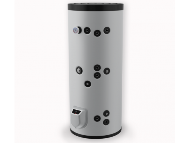 Бойлер Eldom 300 л. 9kW, стоящ, две серпентини, електронно управление, неръждаем FV30067IS2E